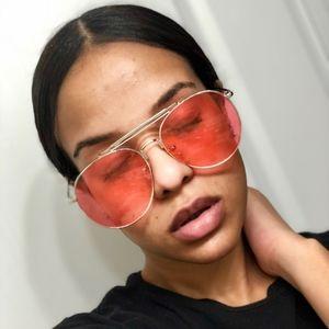 Pink Lenses Aviator Glasses